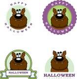 Cartoon Werewolf Halloween Graphic Royalty Free Stock Photography