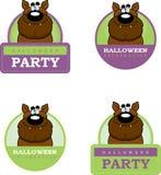 Cartoon Werewolf Halloween Graphic Royalty Free Stock Photo