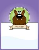 Cartoon Werewolf Halloween Graphic Stock Photo