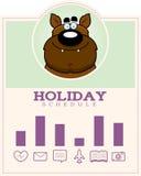 Cartoon Werewolf Halloween Graphic Royalty Free Stock Images