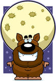 Cartoon Werewolf Moon Royalty Free Stock Photos