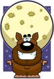 Cartoon Werewolf Moon Royalty Free Stock Photos