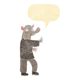Cartoon werewolf with speech bubble Royalty Free Stock Images