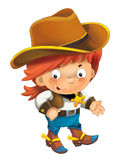 Cartoon western cowboy - illustration for the children Royalty Free Stock Images