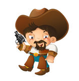 Cartoon western cowboy - illustration for the children Royalty Free Stock Photography