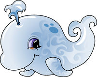 Cartoon whale. Cartoon illustration of a blue whale.Vector illustration Royalty Free Stock Photos