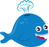 Cartoon Whale Royalty Free Stock Photos