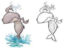 Cartoon Whale. vector illustration