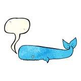 Cartoon whale with speech bubble Stock Photos
