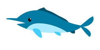 Cartoon whale Royalty Free Stock Image
