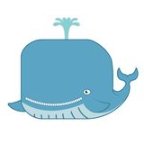 Cartoon whale Stock Photo
