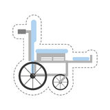 Cartoon wheelchair medical equipment icon Stock Image