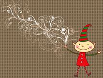 Cartoon whimsical cartoon elf Stock Photo