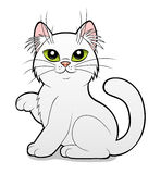 Cartoon white cat Royalty Free Stock Photos