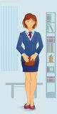 Cartoon white-collar woman Royalty Free Stock Photos