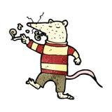 Cartoon white lab rat Royalty Free Stock Photography
