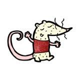 Cartoon white lab rat Stock Photo