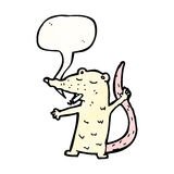 Cartoon white mouse smoking cigarette Royalty Free Stock Image