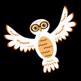 Cartoon White Owl Royalty Free Stock Photo
