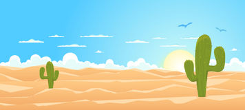 Cartoon Wide Desert vector illustration