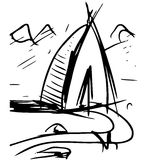Cartoon wigwam Royalty Free Stock Image