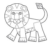 Cartoon wild animal - coloring page for the children Stock Photos
