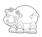 Cartoon wild animal - coloring page for the children Royalty Free Stock Image