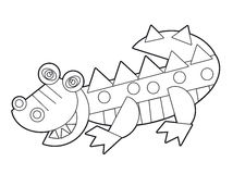 Cartoon wild animal - coloring page for the children Stock Image
