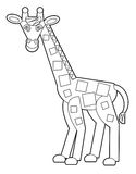 Cartoon wild animal - coloring page for the children Stock Photography