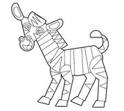 Cartoon wild animal - coloring page for the children Royalty Free Stock Photography