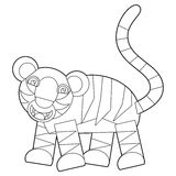 Cartoon wild animal - coloring page for the children Royalty Free Stock Photo
