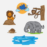 Cartoon wild animal Stock Image