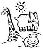 Cartoon wild animals Stock Photos
