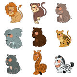 Cartoon wild animals Stock Image