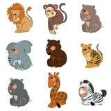 Cartoon wild animals Stock Image