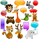 Cartoon wild animals Stock Photo