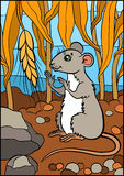 Cartoon wild animals for kids. Little cute mouse. Royalty Free Stock Images