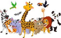 Cartoon wild animals Royalty Free Stock Photography