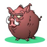 Cartoon wild boar stock images