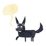 Cartoon wild dog with speech bubble Royalty Free Stock Photos