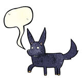 Cartoon wild dog with speech bubble Stock Images