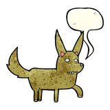 Cartoon wild dog with speech bubble Stock Photo
