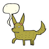 Cartoon wild dog with speech bubble Stock Photography