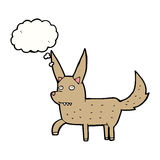 Cartoon wild dog with thought bubble Royalty Free Stock Photography