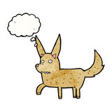 Cartoon wild dog with thought bubble Stock Photo