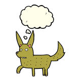 Cartoon wild dog with thought bubble Royalty Free Stock Images