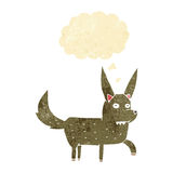 Cartoon wild dog with thought bubble Stock Photography