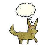 Cartoon wild dog with thought bubble Stock Images