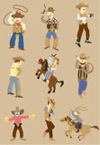 Cartoon wild west cowboy icon Royalty Free Stock Images