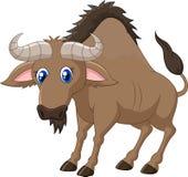 Cartoon a Wildebeest. Illustration of Cartoon a Wildebeest Stock Photo